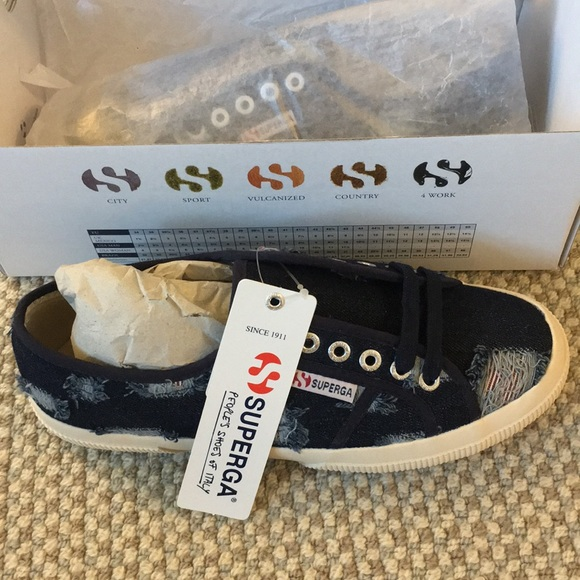 Superga Shoes | Limited Edition Ripped
